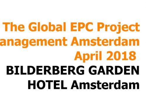 EPC global project management forum Amsterdam 2018